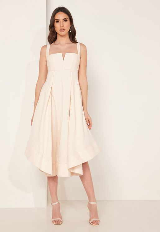 Statement Square Neck Skater Dress
