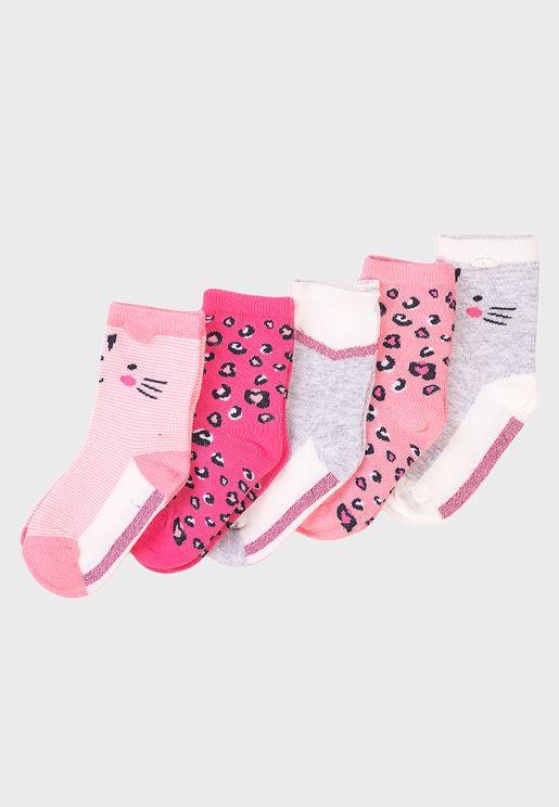 Kids 5 Pack Character Socks