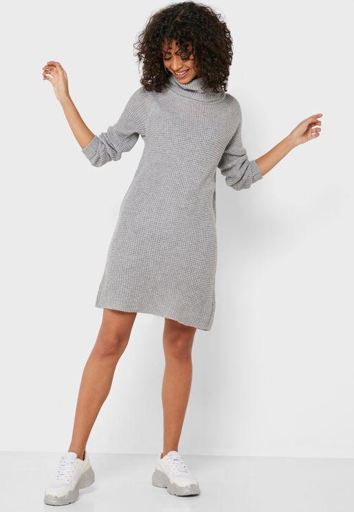 Roll Neck Sweater Dress