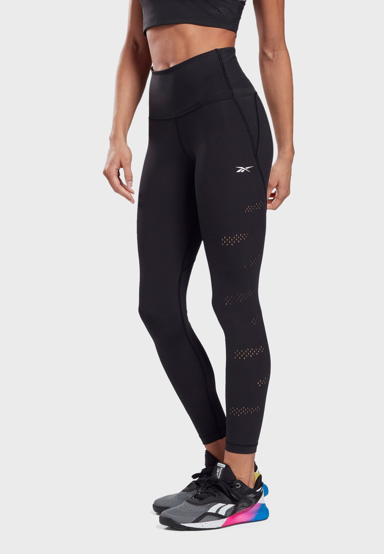 Lux Peformance Perforated Tights