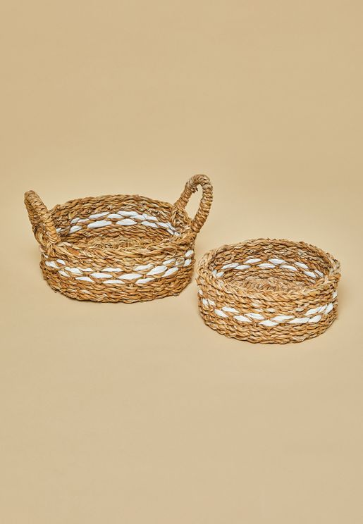 Natural Seagrass Basket Set of 2