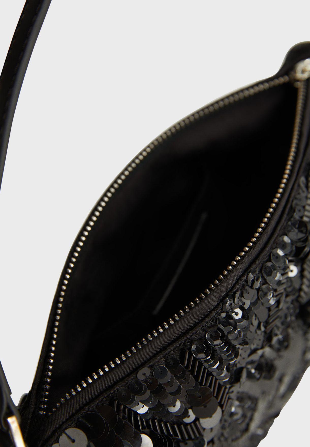Classy Sequins Baguette Crossbody