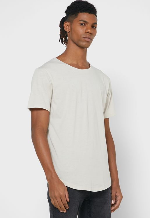 Longline Crew Neck T-Shirt