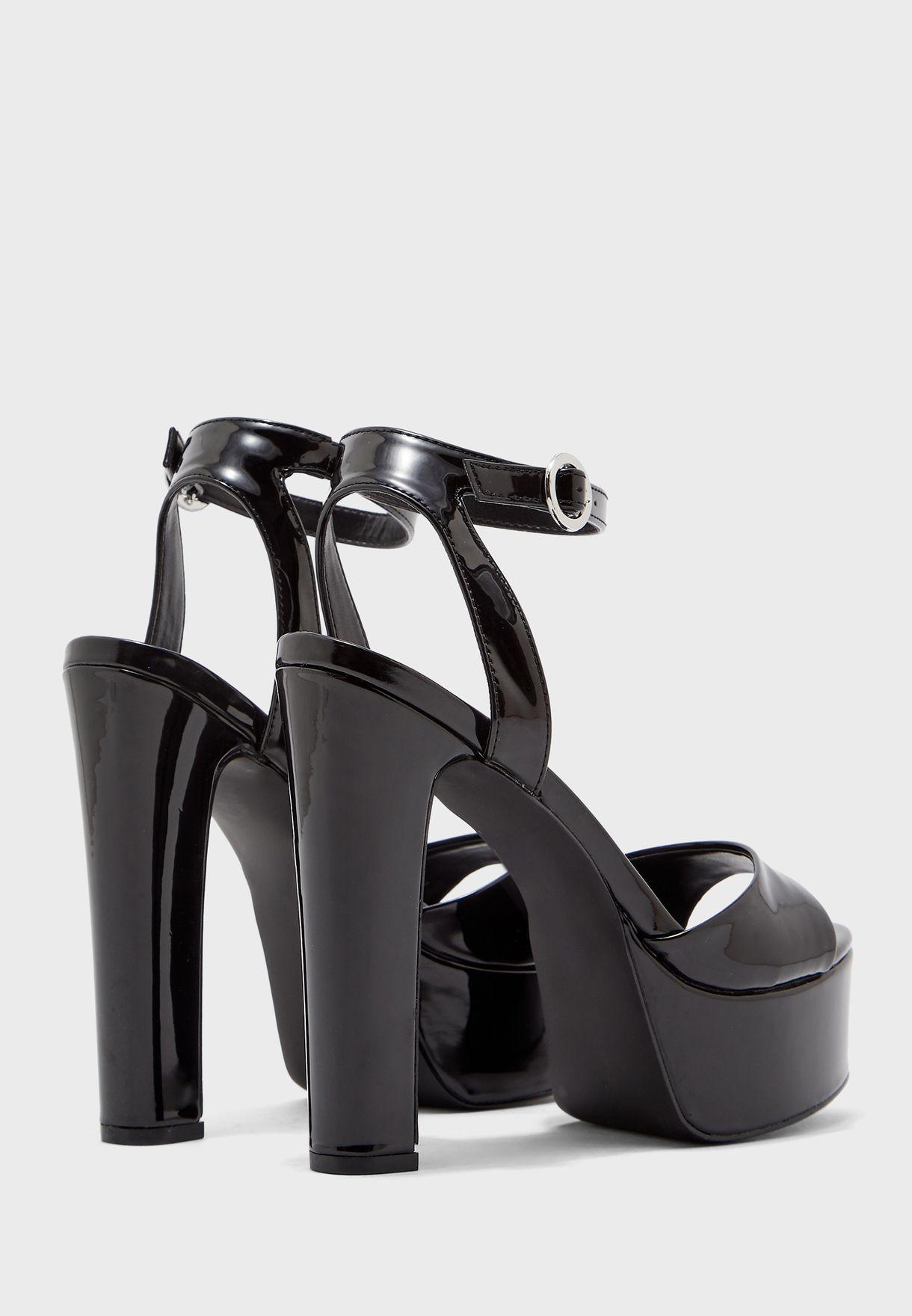 Skyla Snake Print Ankle Strap Sandal