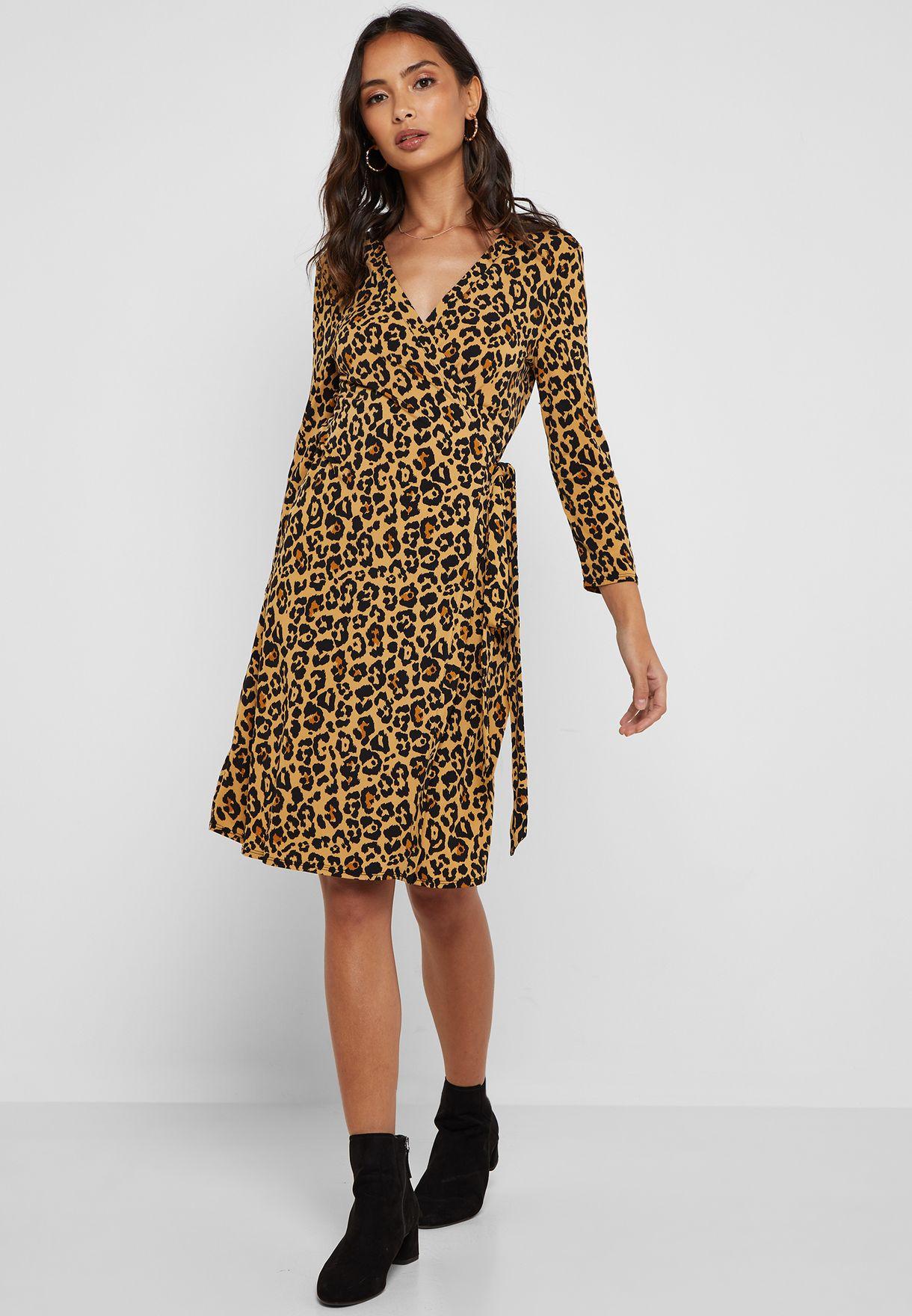 cd6c5d01954361 Shop Mango animalprint Leopard Print Wrap Dress 41913731 for Women ...
