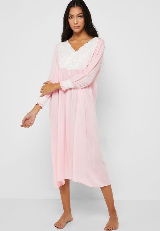 Lace Detail Nightdress