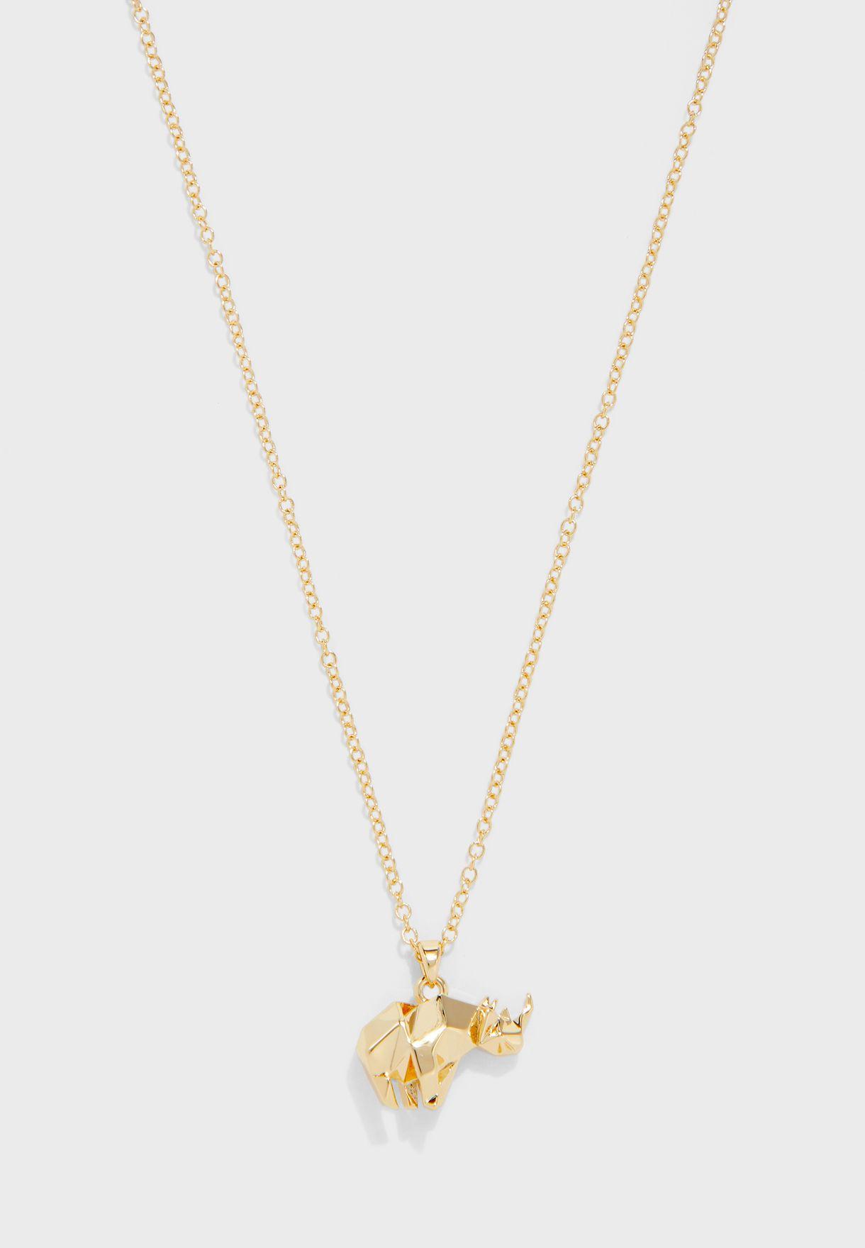 Serfara Rhino Pendant Necklace
