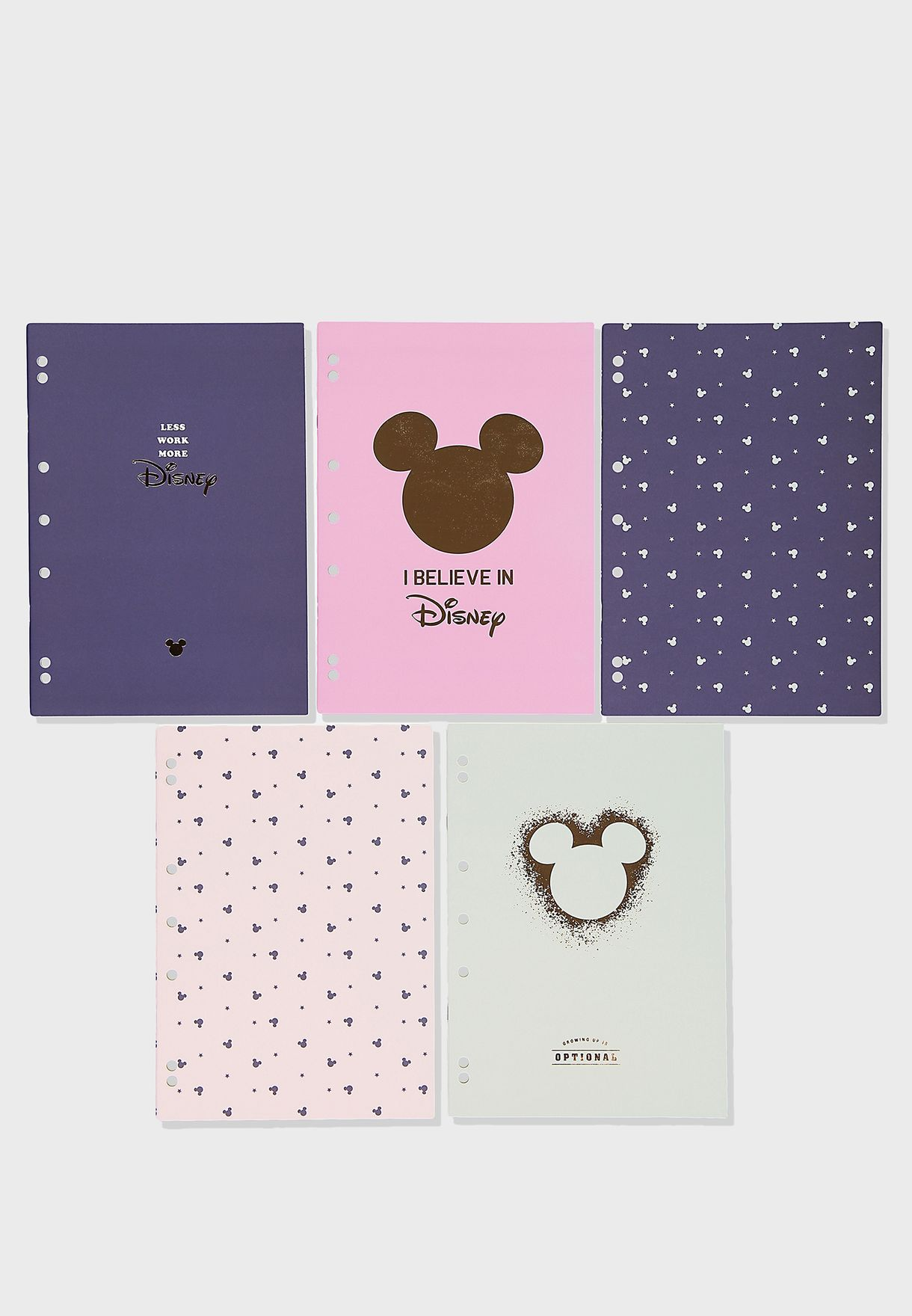 5 Pack Disney Work It Out Notebook