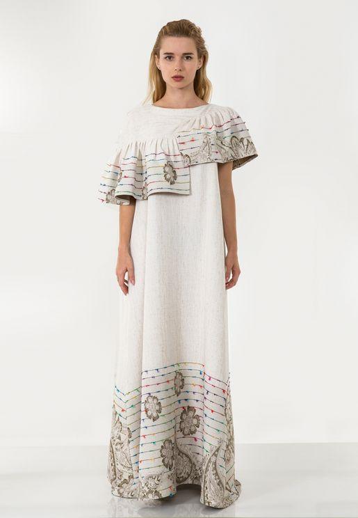 فستان بنمط قفطان