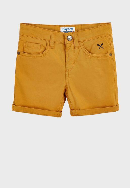 Kids Folded Hem Shorts