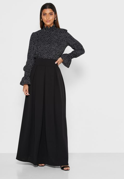 Self Tie Maxi Skirt