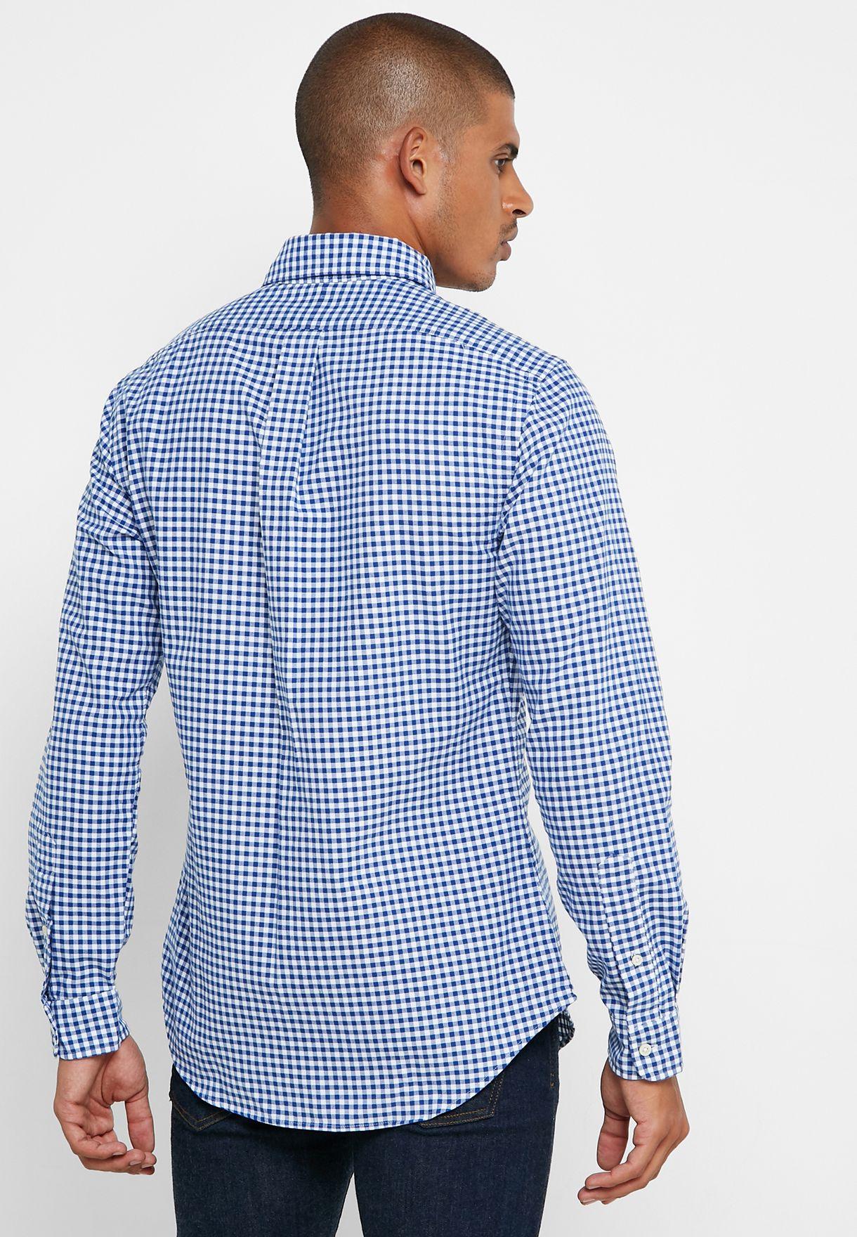 قميص اكسفورد سلم فيت بطبعات مربعات