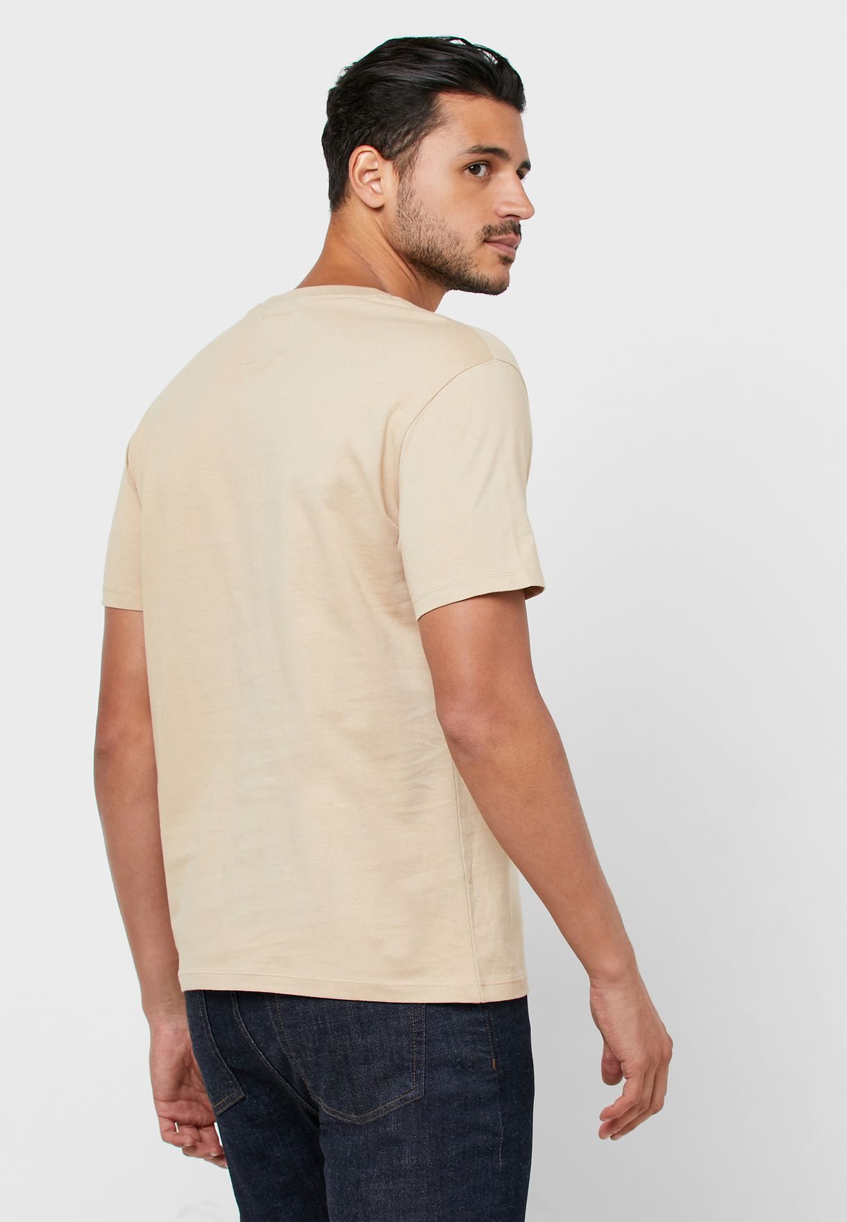 Snake Print Crew Neck T-Shirt