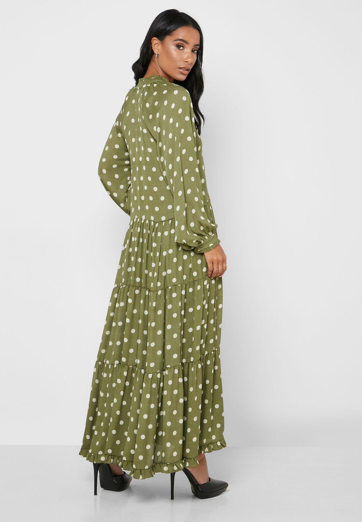 فستان بنقاط بولكا