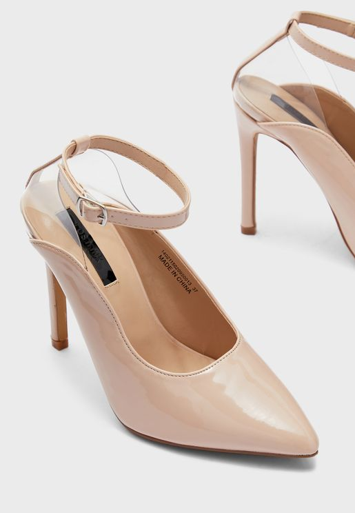 Transparent Slingback High Heel Pump