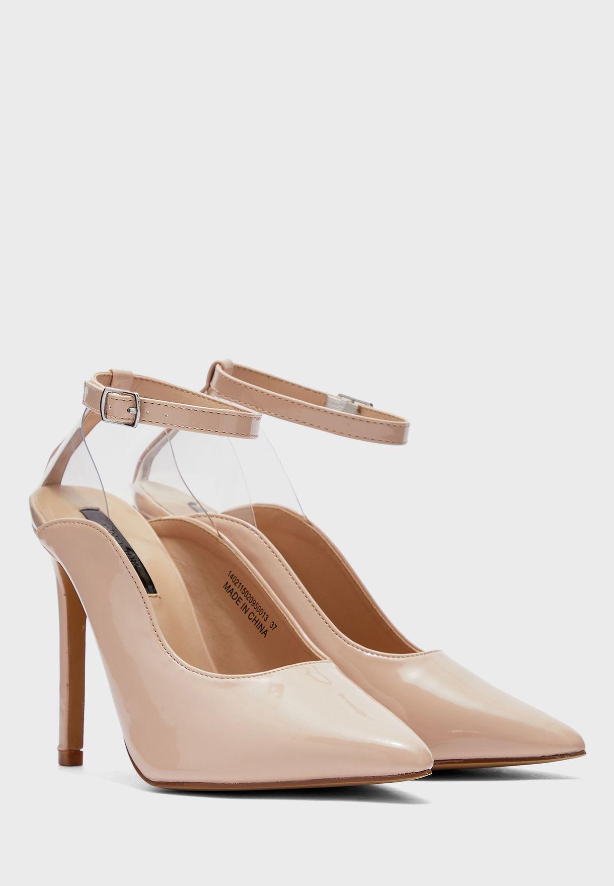 Transparent Slingback High Heel Pump