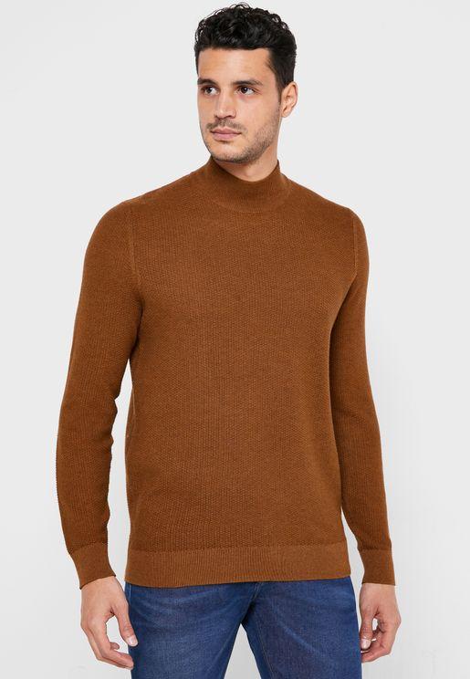 Textured Turtle Neck Sweater
