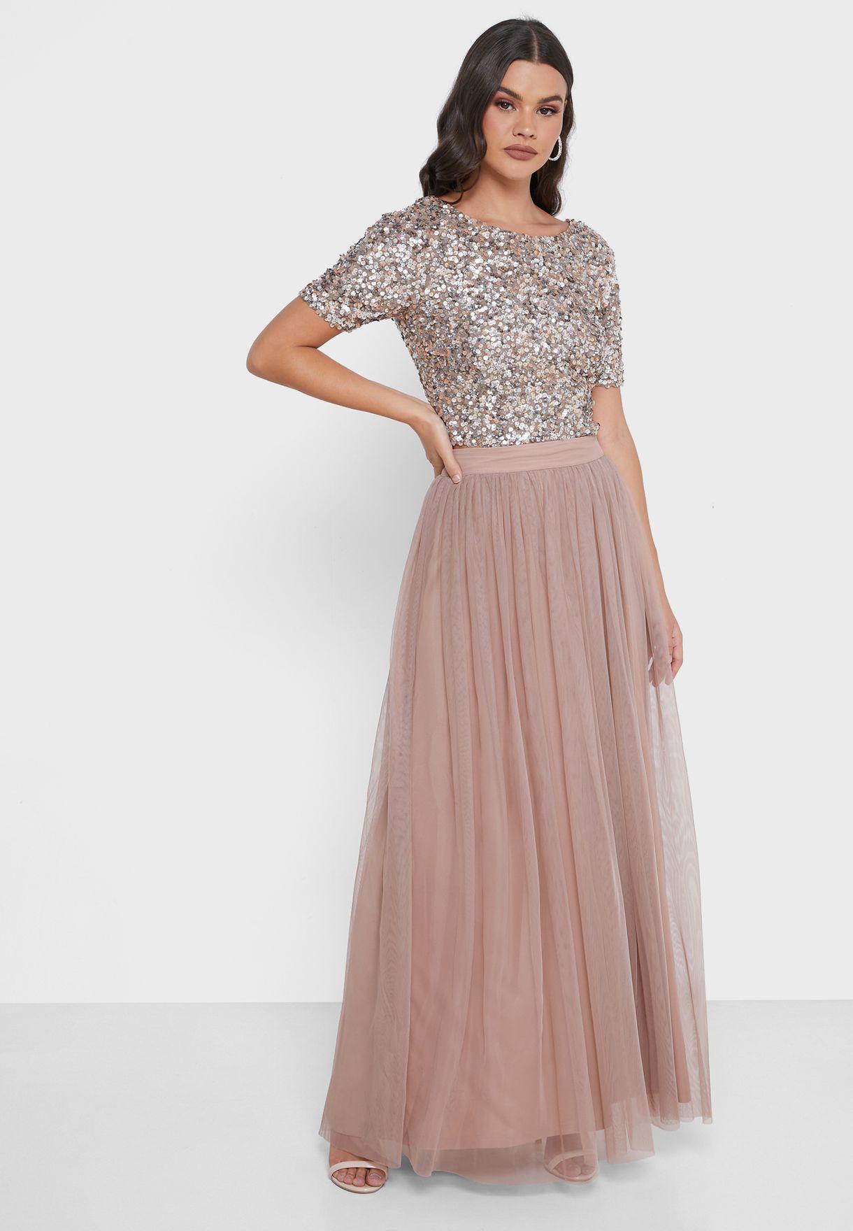 Mariko Pleated Maxi Skirt