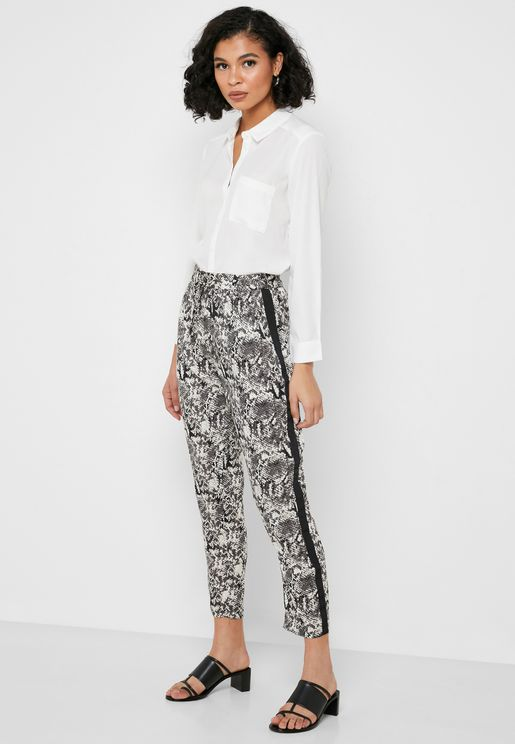 Animal Print Ankle Grazer Pants