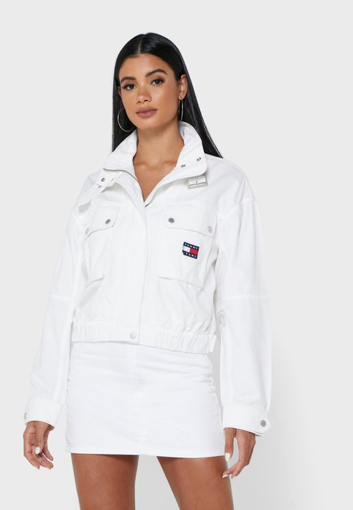 High Neck Cropped Jacket