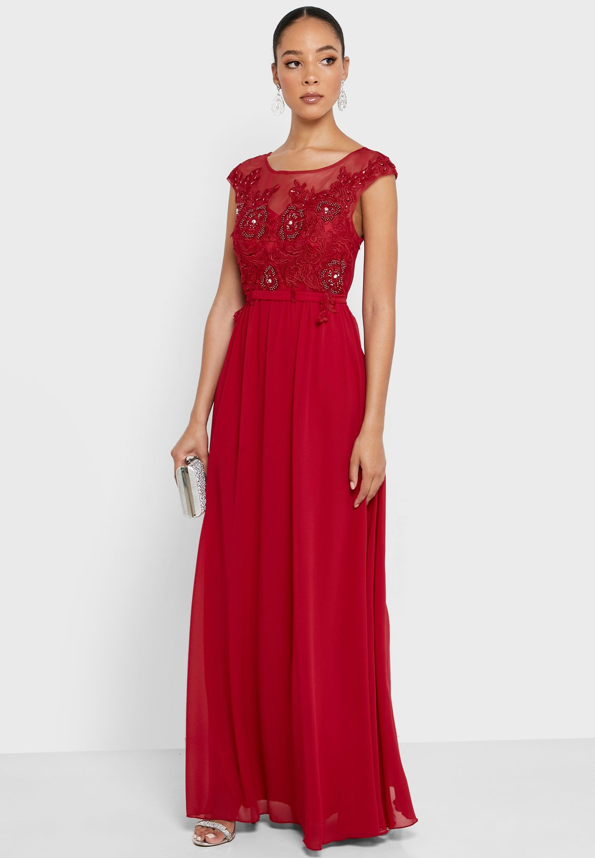 Embellished Detail Top Maxi Dress