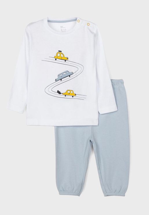 Infant Car Print Pyjama Set