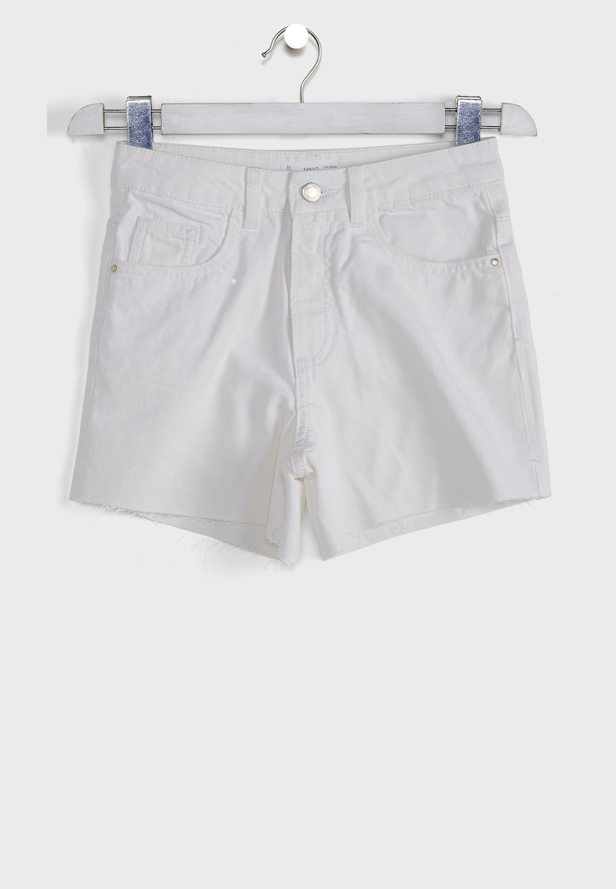 Kids Frayed Hem Denim Shorts