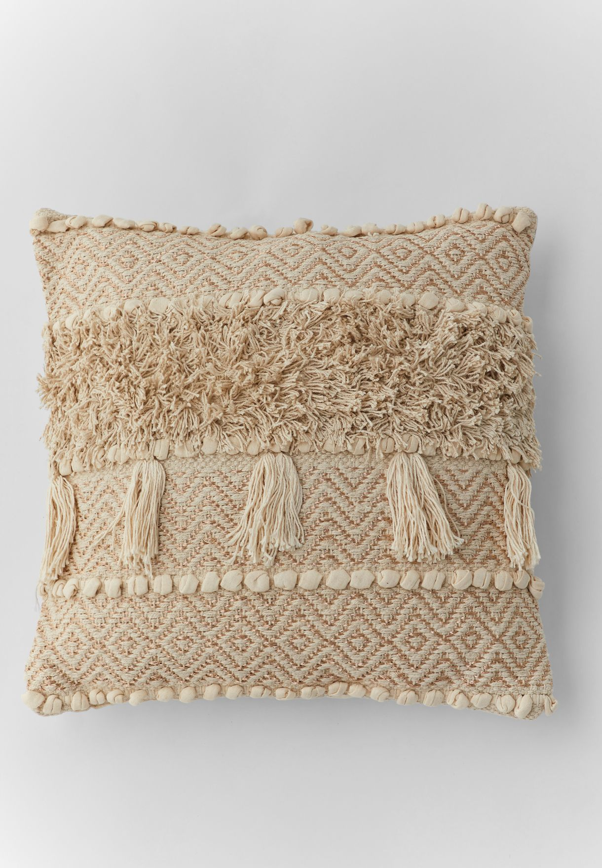 Tassel Cushion With Insert