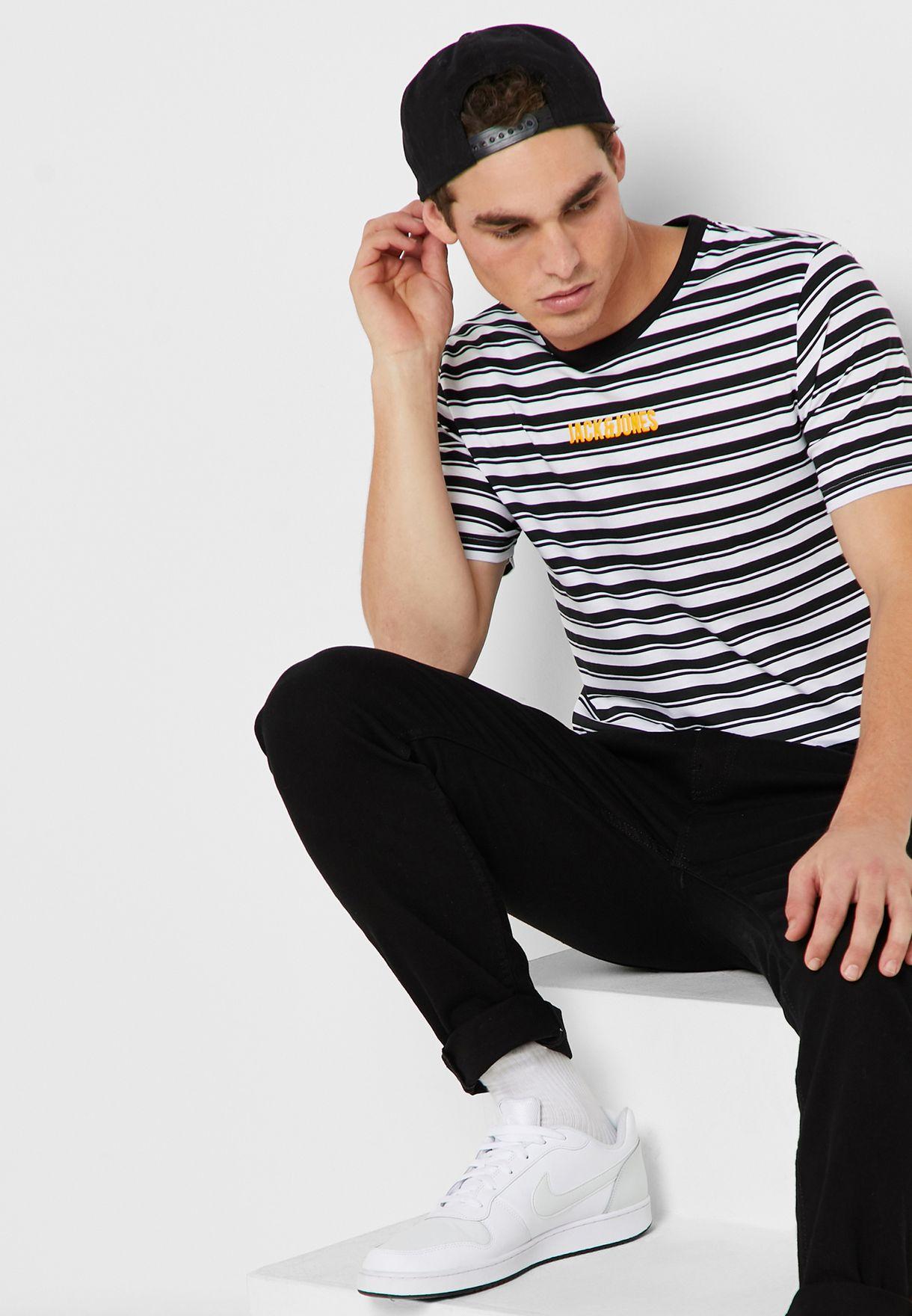 Summer  Striped Crew Neck T-Shirt