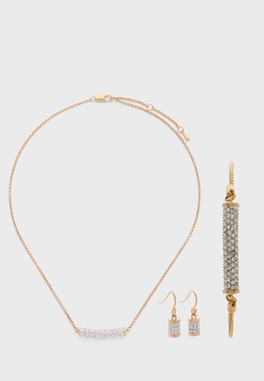 Primrose Necklace+Earrings+Bracelet Set