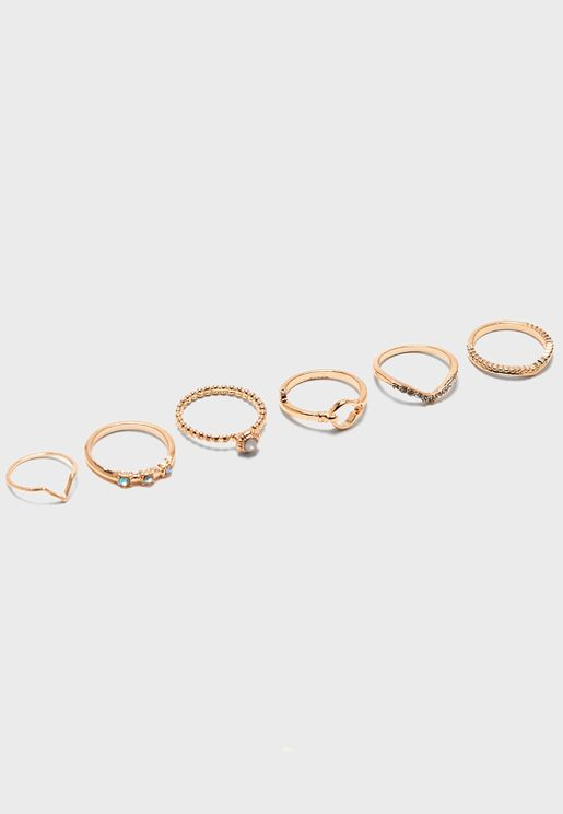 Multipack Pearl Rings
