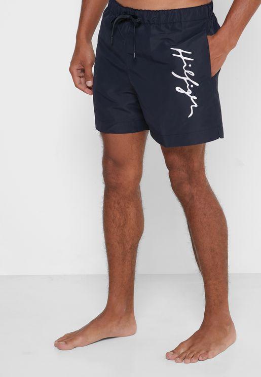 Side Logo Swim Shorts