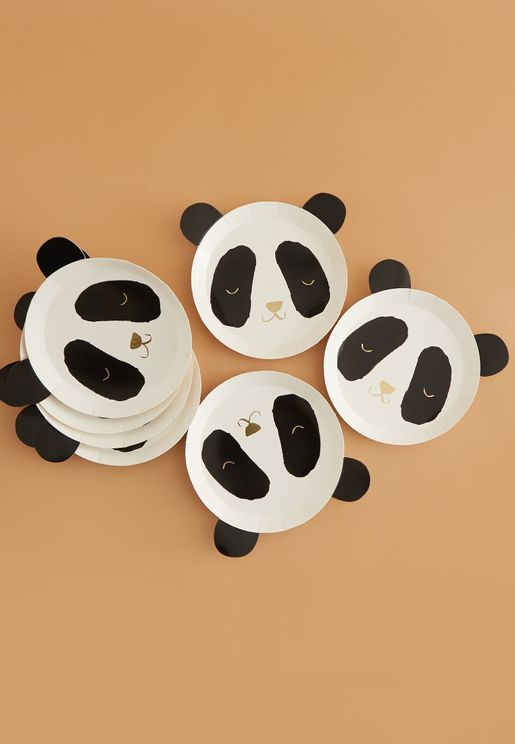 Panda Party Plates 8 Pack