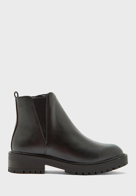 Chelsea Chunky Low Heel Boot