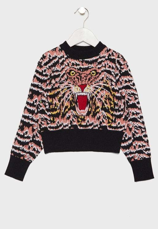 Little Roar Intarsia Sweater