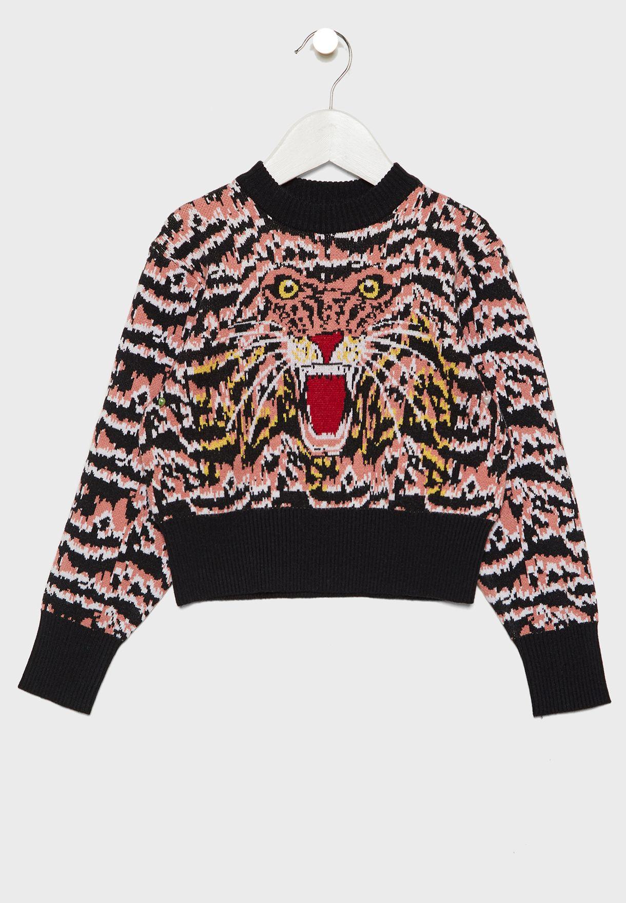 Little Roar Intarsia Sweater