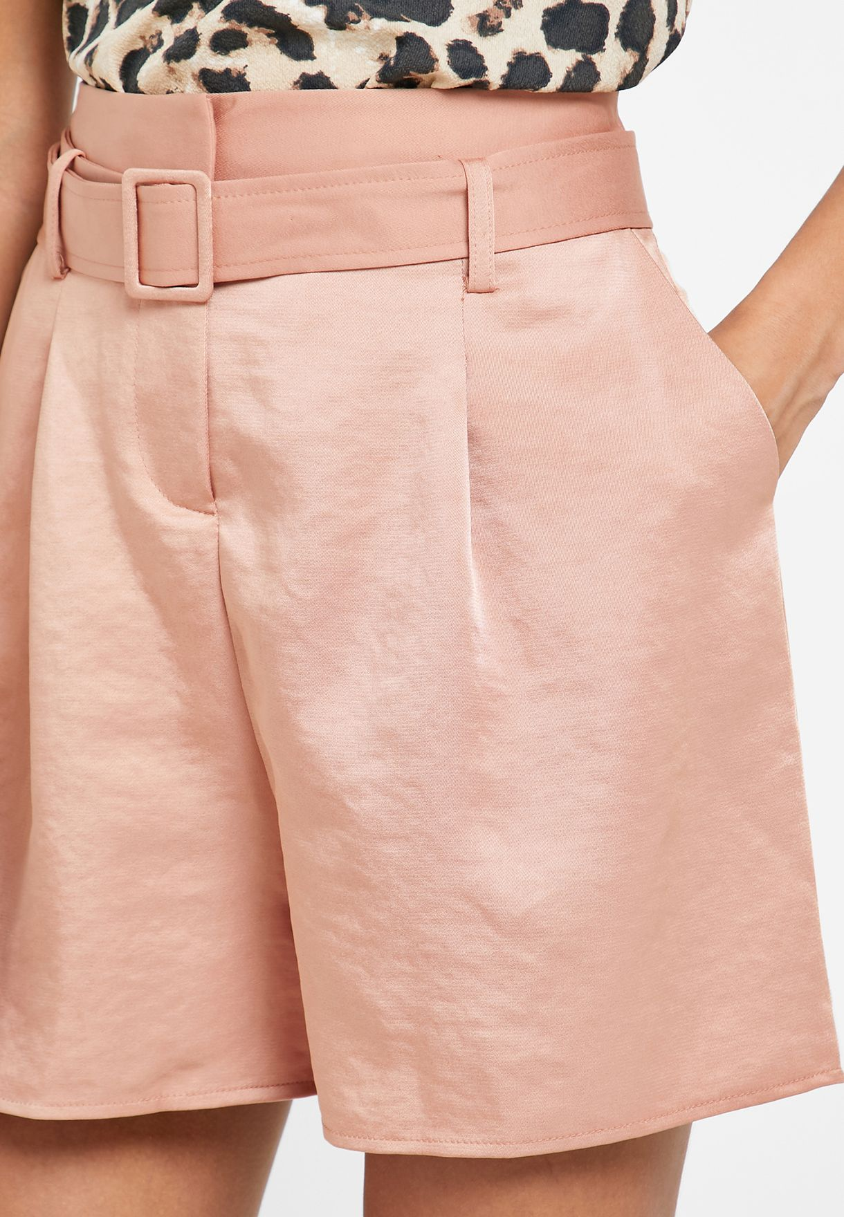 Shimmer Pleated Shorts