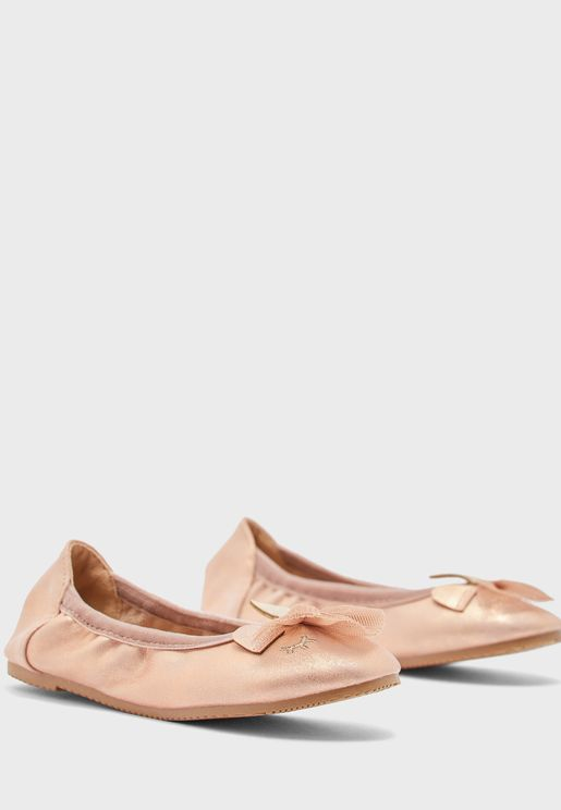 Kids Bow Detail Ballerina