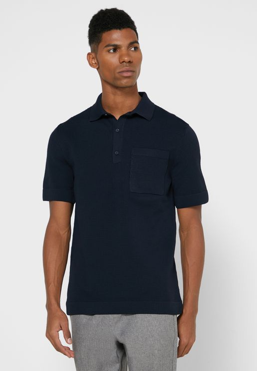 Waffle Knitted Polo