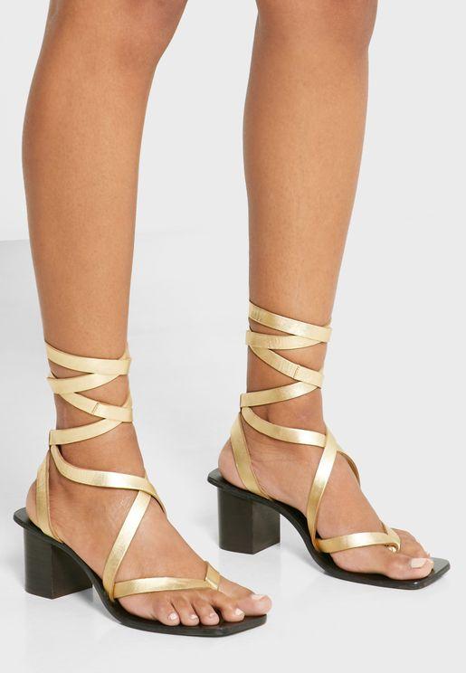 Vanity Mid Heel Sandal