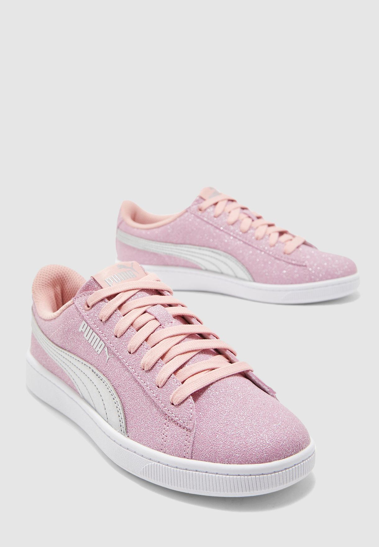 Buy PUMA pink Youth Vikky V2 Glitz for