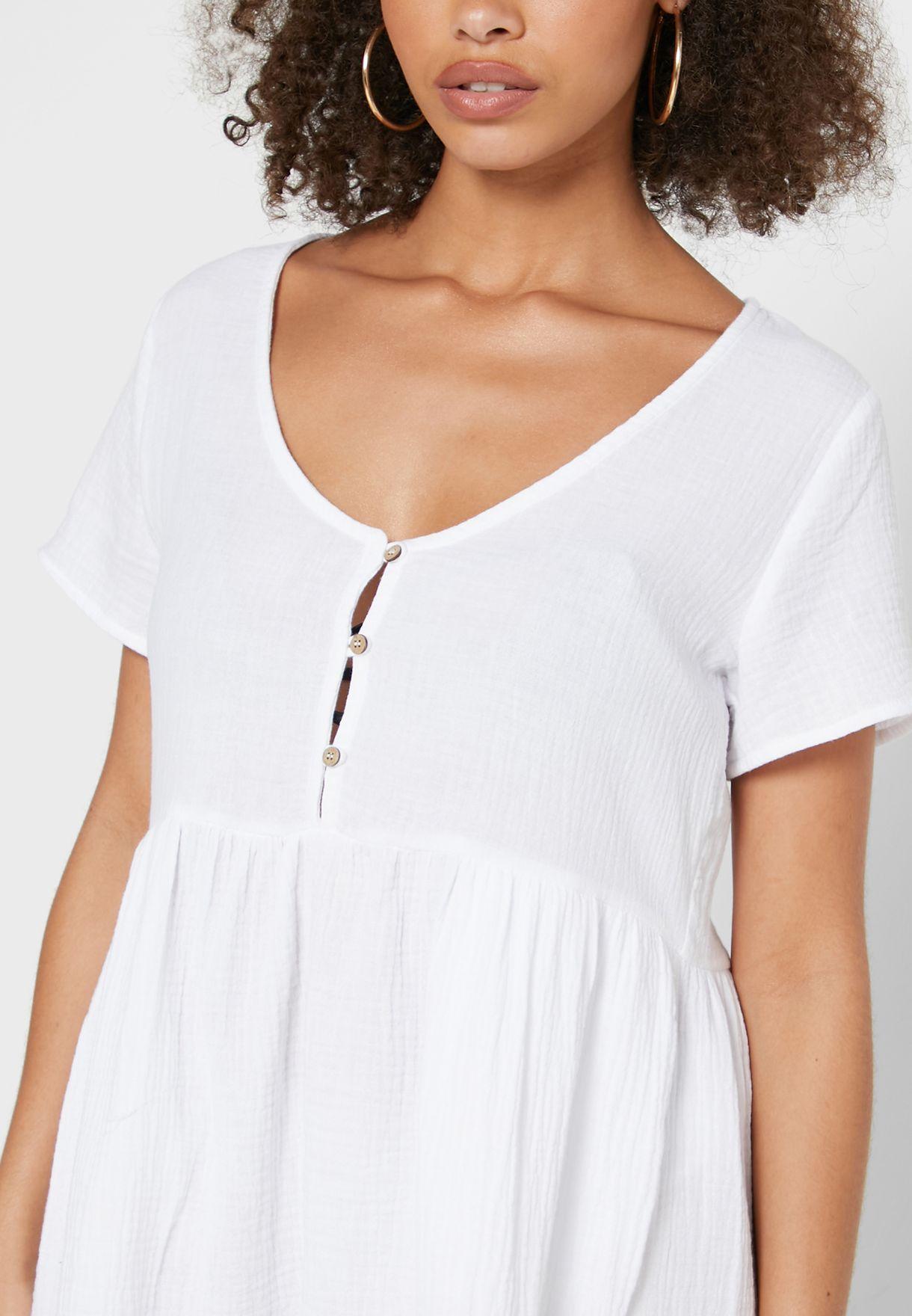 Button Up Beach Dress