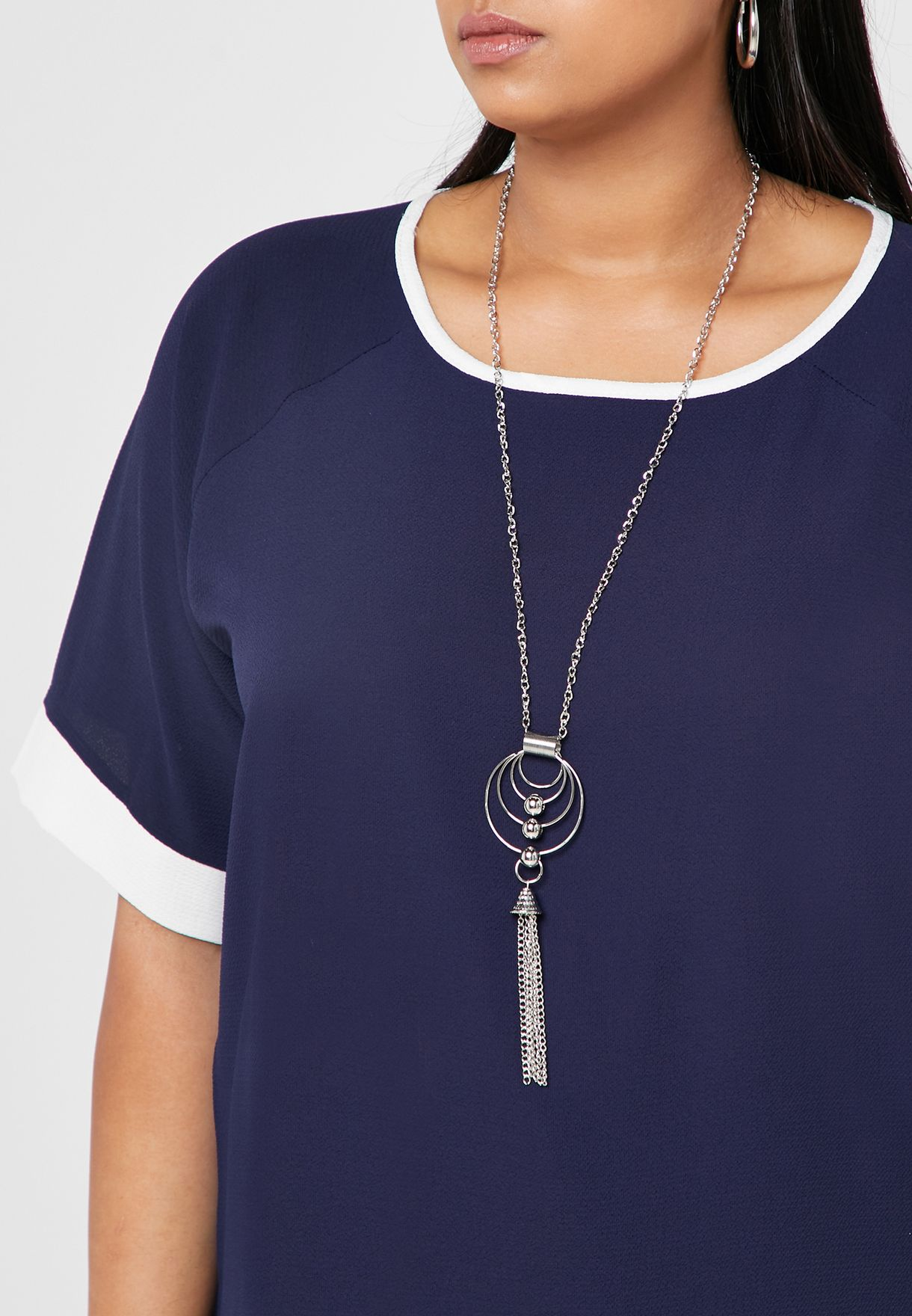 Contrast Tunic Top