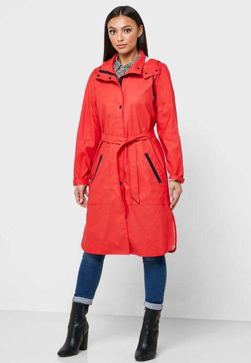Tie Waist Raincoat