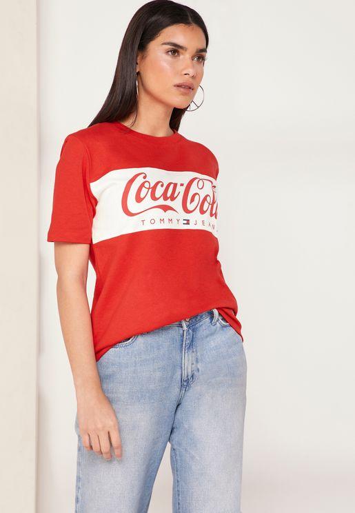 Coca Cola Colab Logo T-Shirt