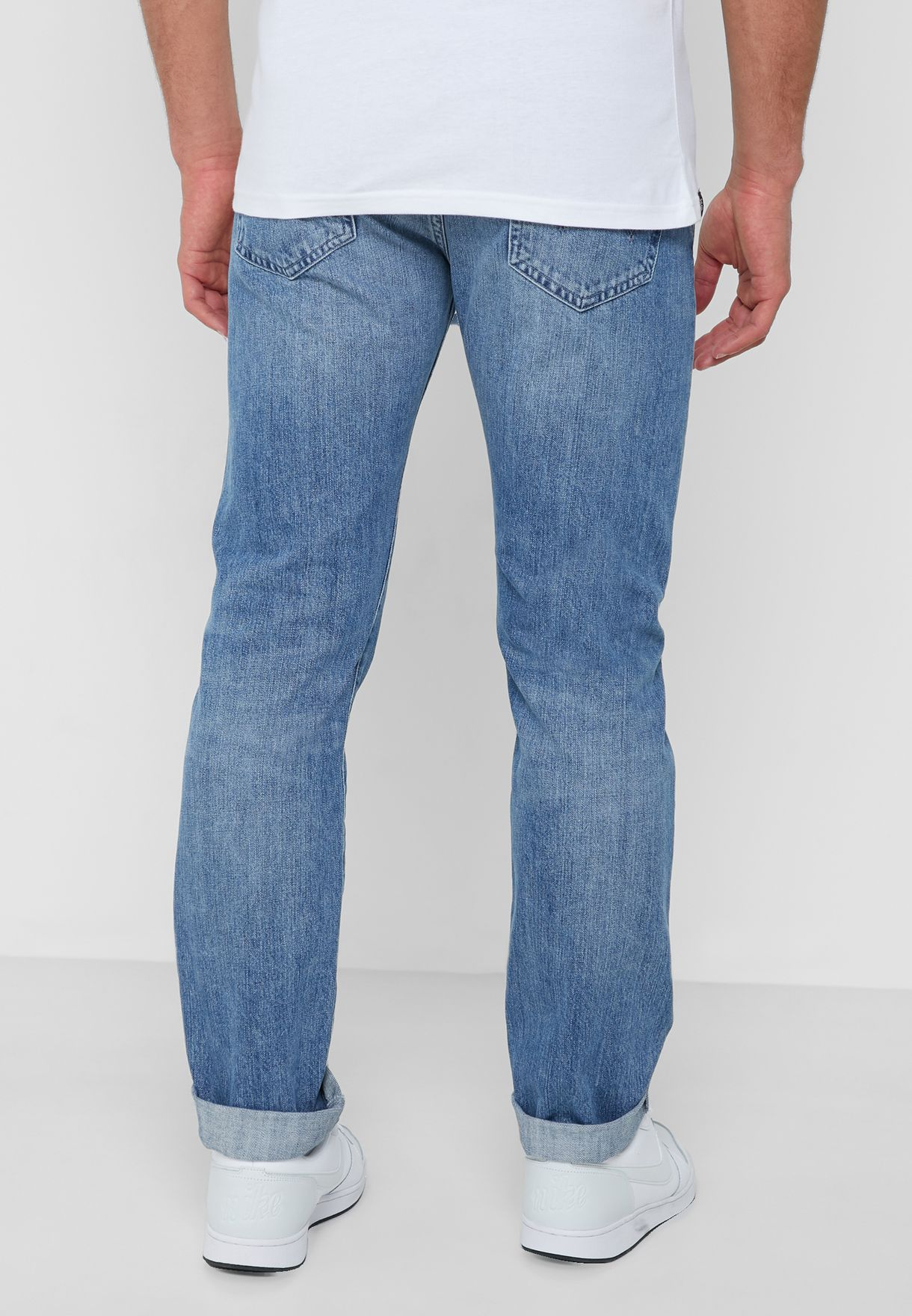 ED-80 Slim Fit Mid Wash Jeans