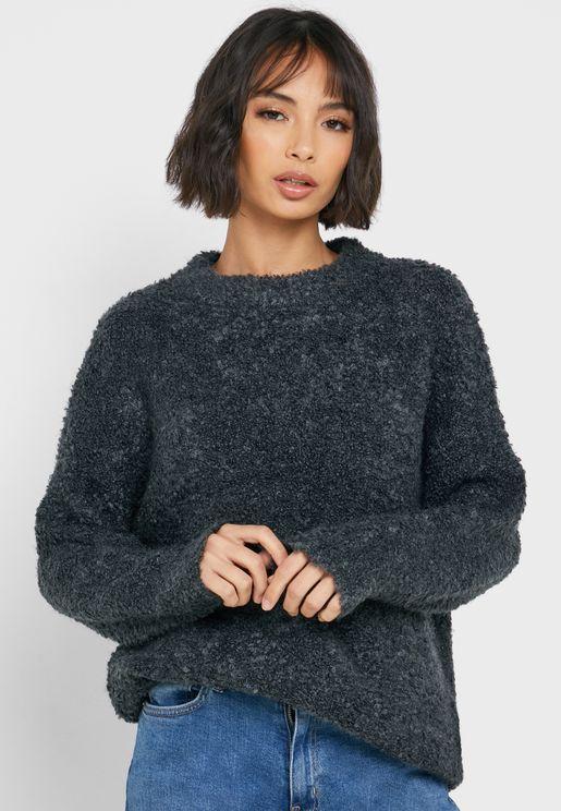 High Neck Longline Sweater