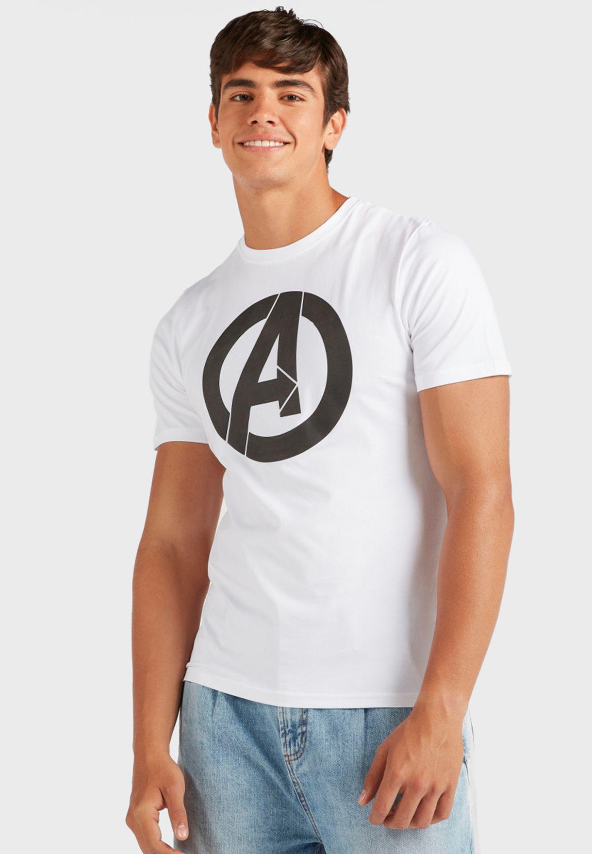 تيشيرت بطباعة Avengers