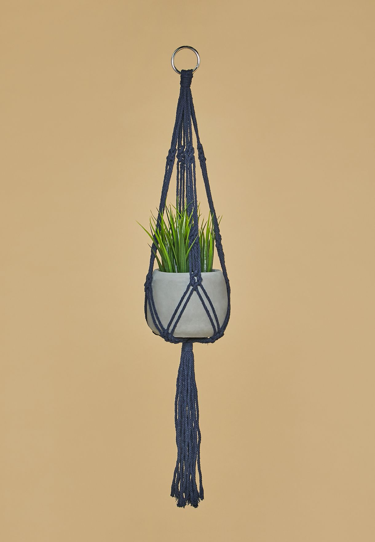 Macrame + Cement Planter