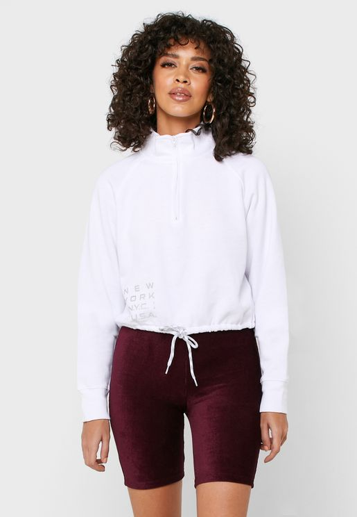 Drawstring Waist Sweatshirt
